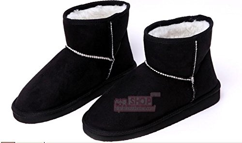 Popular Shoes 5 Snow Gray Womens New Warm Gaorui Faux Winter Soft 7 Fashion Suede Boots 5 A1qcw8