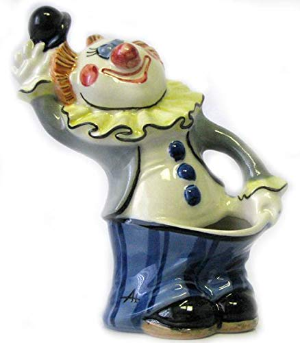 Clown (pencil case, planter) porcelain figurine, handmade, people figurine