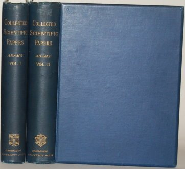 THE SCIENTIFIC PAPERS OF JOHN COUCH ADAMS Two Volumes - Complete