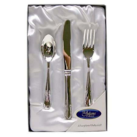 Silver Plated Cutlery Set - New Baby Christening Gift for Boy or Girl (6305NT  sc 1 st  Amazon UK & Silver Plated Cutlery Set - New Baby Christening Gift for Boy or ...
