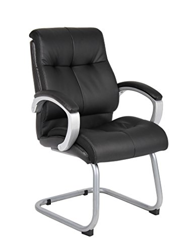 Boss Office Products B8779S-BK Double Plush Guest Chair in Black by Boss Office Products