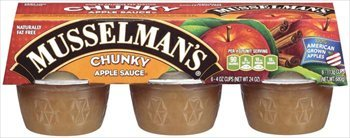 Musselman's Chunky Applesauce 6 - 4 oz cups