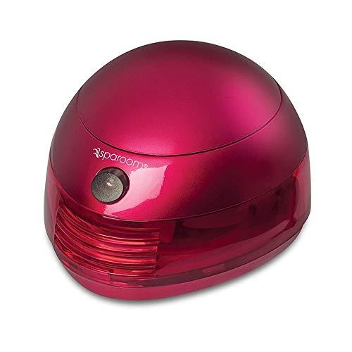 SpaRoom Aromafier Metallic Portable Essential Oil Diffuser Portable USB or Batteries, Red