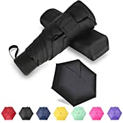 GAOYAING Travel Mini Umbrella Sun&Rain Lightweight Small and Compact Suit for Pocket with Case