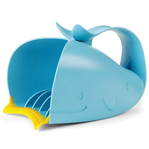 Skip Hop Moby Bath Taza de baño de enjuague en cascada sin lágrimas, azul