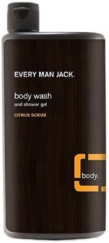 Every Man Jack Body Wash and Shower Gel, Citrus Scrub, 16.9 oz