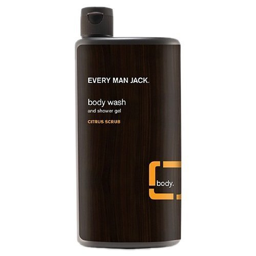 Every Man Jack Body Wash and Shower Gel, Citrus Scrub, 16.9 oz by Every Man Jack