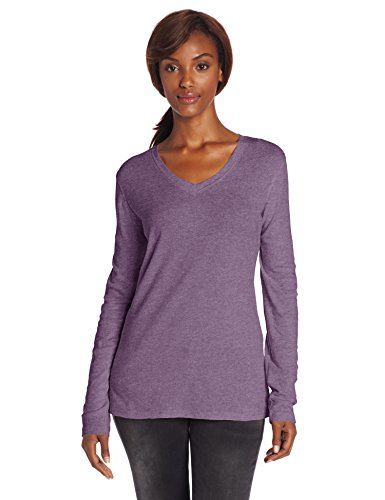 Sage Long Sleeve Tee - Carhartt Women's Calumet Long Sleeve Vneck T-Shirt,Purple Sage Heather,Large