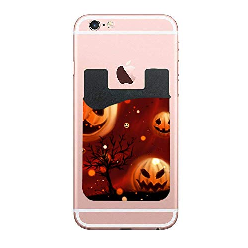 Phone Card Wallet (2 Pack), Phone Pocket, Credit Card Holder Card Phone Wallet for All Smartphones (Pumpkin Halloween Wallpapers)