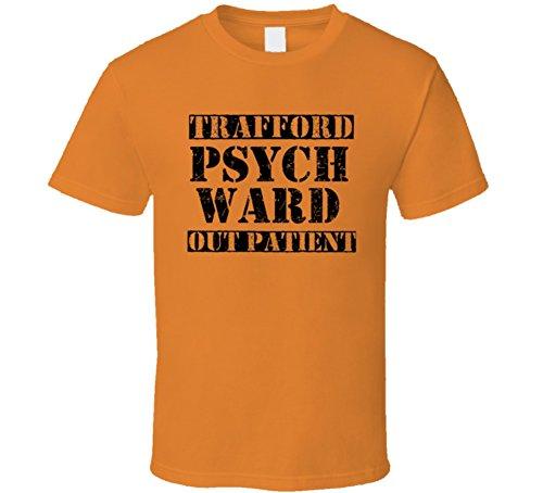 Trafford Pennsylvania Psych Ward Funny Halloween City Costume T Shirt S Orange (Trafford Halloween)