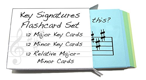 Key Signature Flashcards- Minor, Major & Relative Major-Minors - Really fun design! (Suzuki Flashcards Violin)