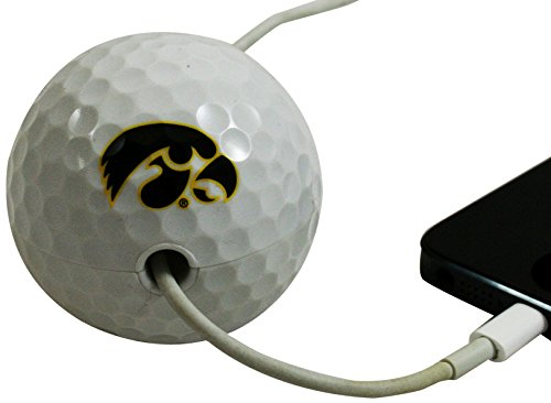 Cord Buddy University of Iowa Tigerhawk Charger Cord Holder, Black on Gold ()
