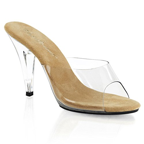 High transparent Heels Pantoletten Damen Transparent transparent High Transparent ... 77dd09