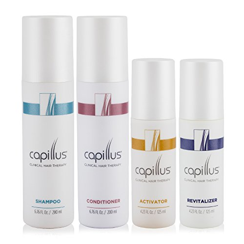 Capillus Clinical Hair Therapy Bundle (Includes: Shampoo, Conditioner, Activator, and Revitalizer) for use in conjunction with the Capillus low-level light therapy devices by Capillus