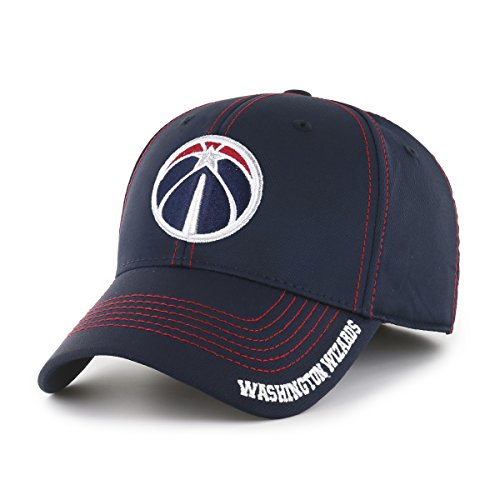 fan products of NBA Washington Wizards Start Line OTS Center Stretch Fit Hat, Navy, Large/X-Large