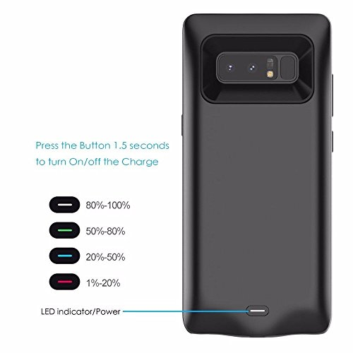 Aoile convenient External Charging claim 5500mAh Extended Battery Protective claim electrica Pack for Samsung Galaxy Note 8 Battery Charger Cases