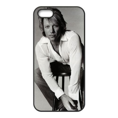 Bon Jovi 003 coque iPhone 4 4S cellulaire cas coque de téléphone cas téléphone cellulaire noir couvercle EEEXLKNBC23717