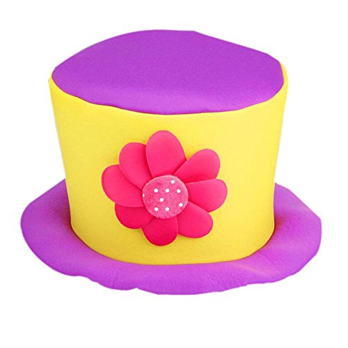 PANDA SUPERSTORE Party Costume Carnival Cap Halloween Hat Clown Cap Clown Top Hat Clown -