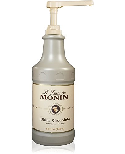 Monin White Chocolate Sauce 64 fl oz - Single Bottle Monin White Chocolate Sauce