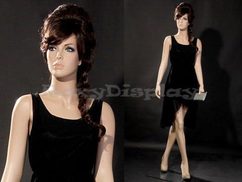 Female Fiberglass Mannequin Pretty Face Elegant Looking Dress Form #MD-A4F1