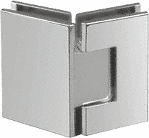 Satin Chrome 135 Glass - CRL Geneva 045 Series Satin Chrome 135° Glass-to-Glass Hinges