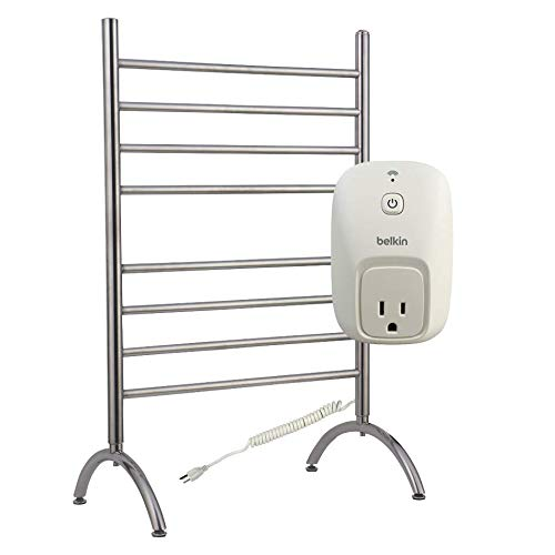 (WarmlyYours Barcelona Towel Warmer 8 bar Brushed Stainless)