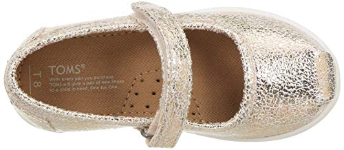 TOMS baby girls Mary Jane Flat, Rose Gold, 9 Little Kid US