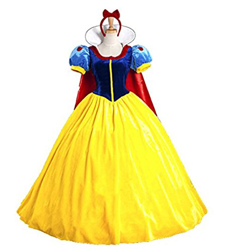 Snow White Costumes For Adults - Papaya Wear Snow White Adult Costume Halloween Costume L