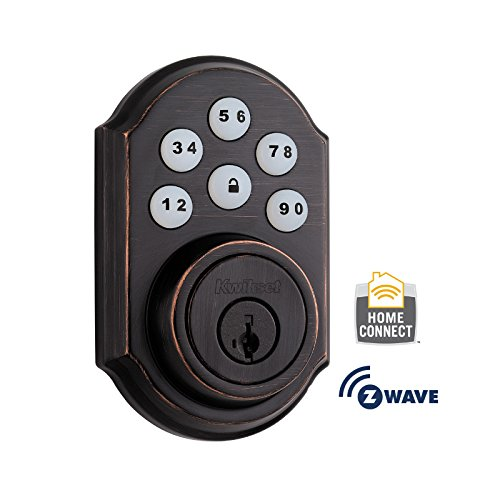 - Kwikset 910 Z-Wave SmartCode Electronic Touchpad Deadbolt, Featuring SmartKey in Venetian Bronze, Works with Alexa via SmartThings, Wink, or Iris