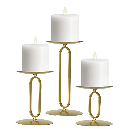 smtyle Candle Holders Set of 3 Candelabra with Iron-3.5