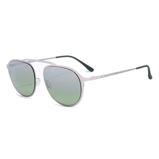italia independent 0251-075-SME Gafas de sol, Plateado, 53 ...