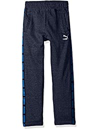 PUMA Big Boy's Boys' Tapered Pant Pants, Navy Heather, Large