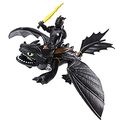 Dreamworks Dragons, Toothless & Hiccup, Dragon with Armored Viking Figure, for Kids Aged 4 & Up: Toys & Games