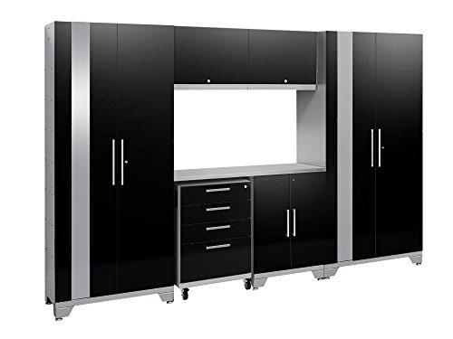 NewAge Products Performance 2.0 Black 7 Piece Set, Garage Cabinets, - Garage Cabinet 7 Piece