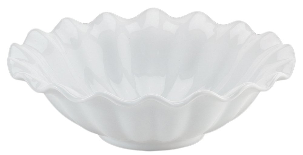 HIC Brands that Cook Fluted Vegetable Bowl, Porcelain, 10.5-Inch Diameter NT114