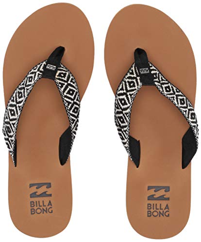 Billabong Women's Baja Sandal, Black/Cream, 8 M US