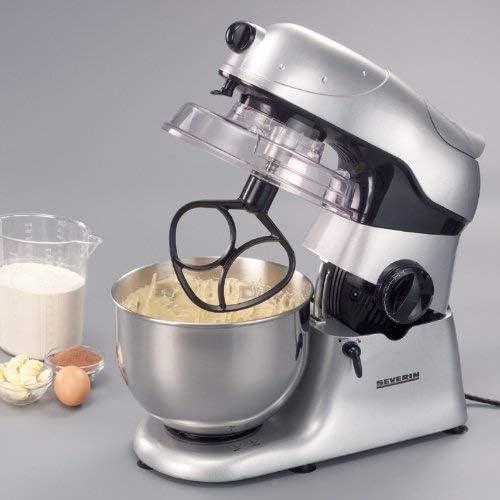 Severin KM 3888 - Robot de cocina con sistema de mezcla planetario y cuenco de acero inoxidable, 4,5 L, incluye batidora, picadora, rallador de carne (Reacondicionado): Amazon.es: Hogar