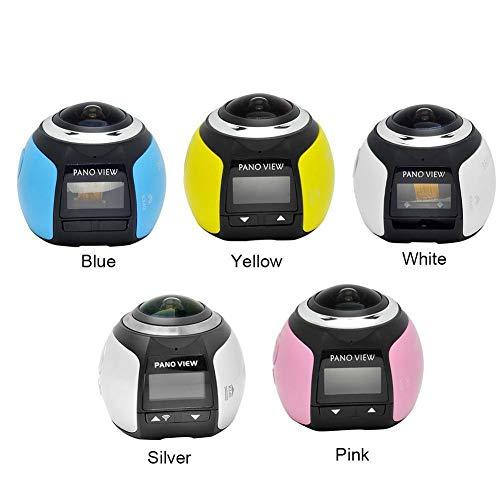 FidgetKute V1 4K Camara 360 Degrees Panoramic Lens 0.96 inch WiFi Photo Action Mini Camera Show One Size
