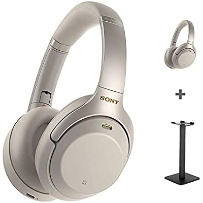 Sony Wh-1000xM3 Wireless Noise Cancelling Headphones with Hours Battery Life  Quick Charge  Gesture Control-Silver Headset Stand