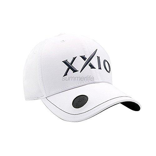 XXIO Dunlop Tpu Ballmarkerキャップgah-17039iゴルフ帽子調節可能ホワイト色58 cm