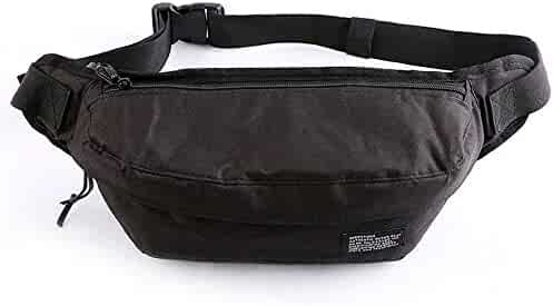 972db041e Outdoor Sports Nylon Fanny Pack Waist Bag for Men Women Travel Hiking  Running Hip Bum Belt