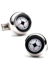 Ravi Ratan Men's Silver Compass Cufflinks