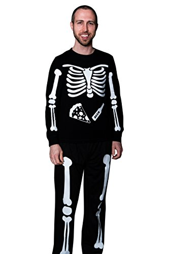X-Ray Skeleton Beer & Pizza DIY Halloween Costume Full Body Iron on