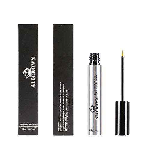 Professiona Eyelashes Glue, Strong Hold Eyelash Adhesive Latex Free Suitable for False Eyelashes Mink Lashes White