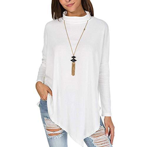 COPPEN Women Blouse Long Sleeve Sweatshirt Jumper Pullover Solid -