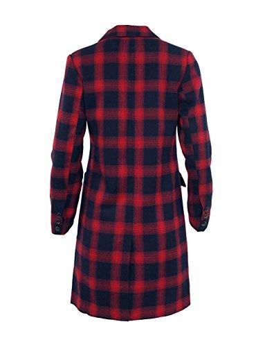 Ma Coquette–Abrigo slim a cuadros Rojo