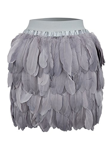 Choies Women Feather Waist Black