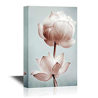 Canvas Wall Art - Lotus Flower Petals - Gallery Wrap Modern Home Art | Ready to Hang - 32x48 inches