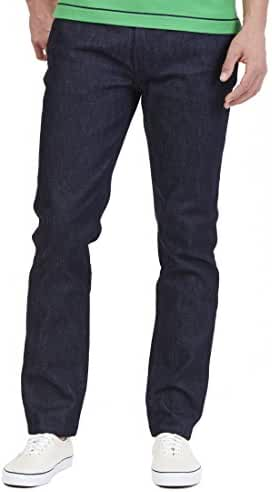 Nautica Mens Tapered Fit Sea Rogue Navy Wash Jean