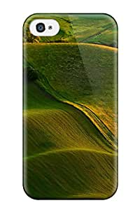 Excellent Design Waves Of Green Hills Case Cover For Iphone 4/4s